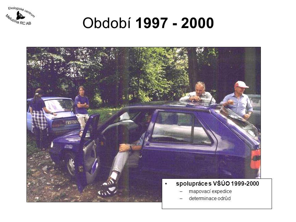 Období 1997 - 2000 spolupráce s VŠÚO 1999-2000 mapovací expedice