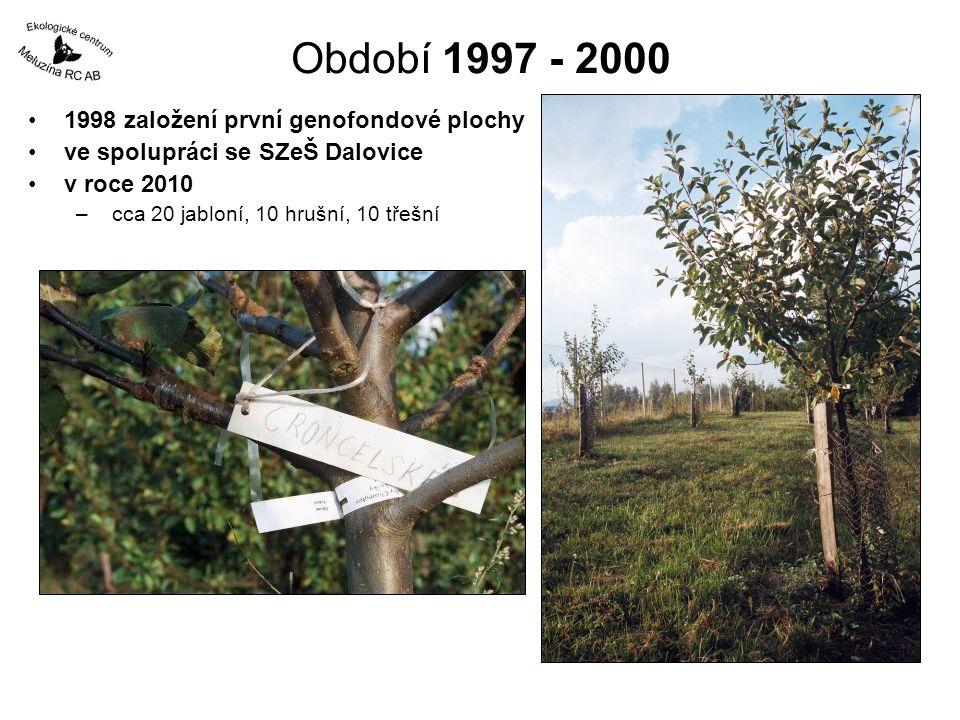 Období 1997 - 2000 1998 založení první genofondové plochy