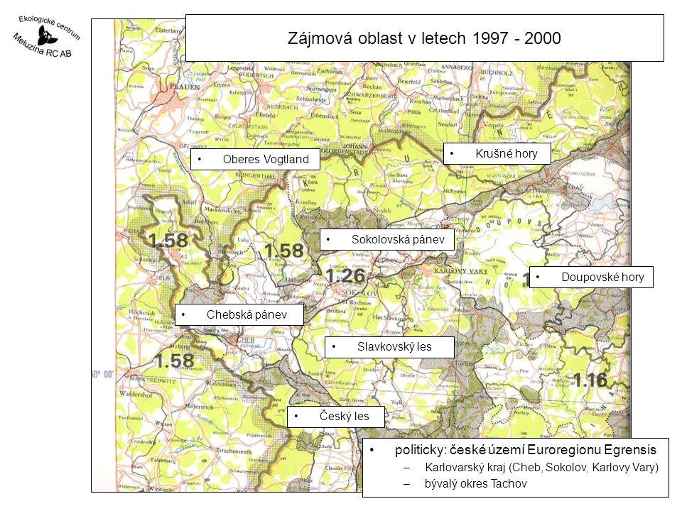 Zájmová oblast v letech 1997 - 2000