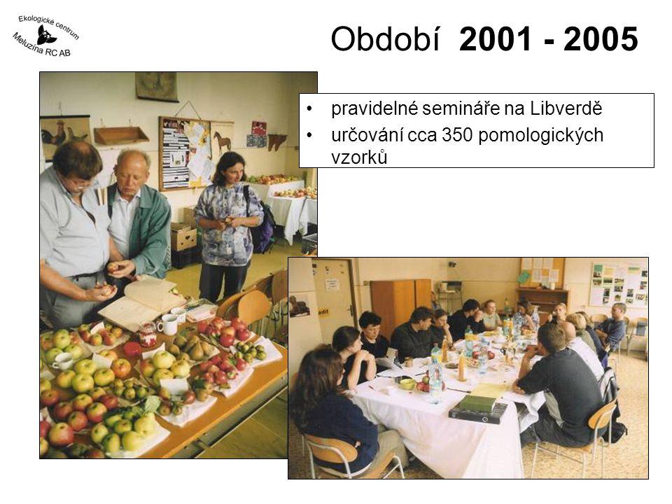Období 2001 - 2005 pravidelné semináře na Libverdě
