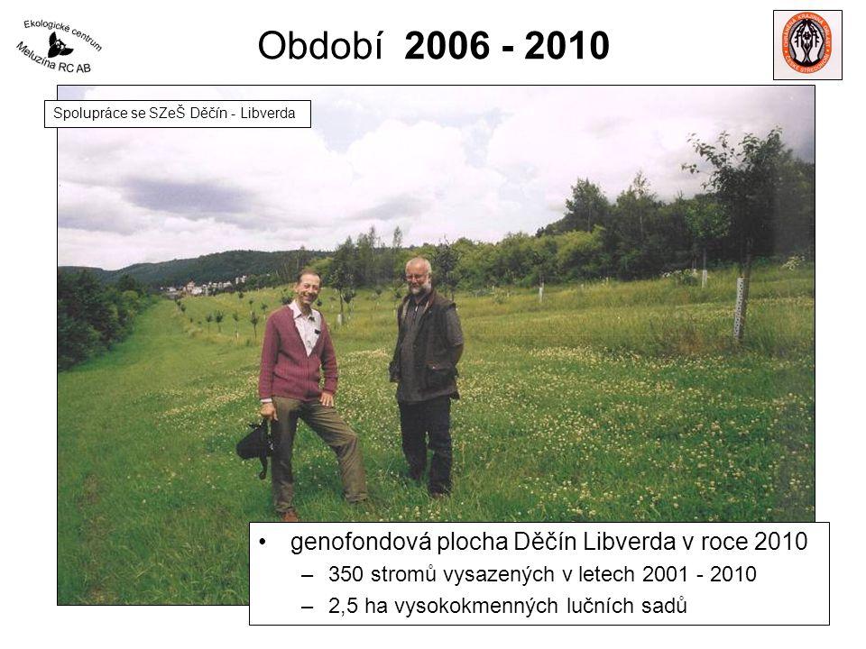 Období 2006 - 2010 genofondová plocha Děčín Libverda v roce 2010