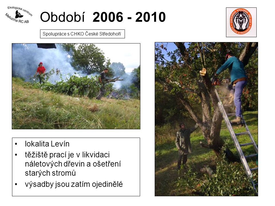 Období 2006 - 2010 lokalita Levín
