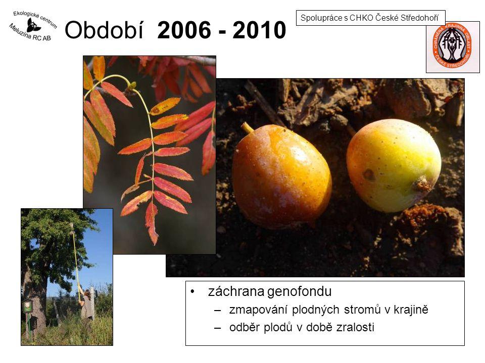 Období 2006 - 2010 záchrana genofondu