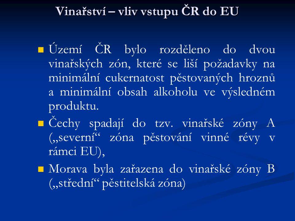 Vinařství – vliv vstupu ČR do EU