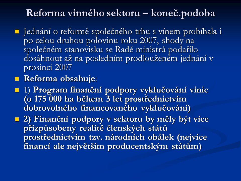 Reforma vinného sektoru – koneč.podoba