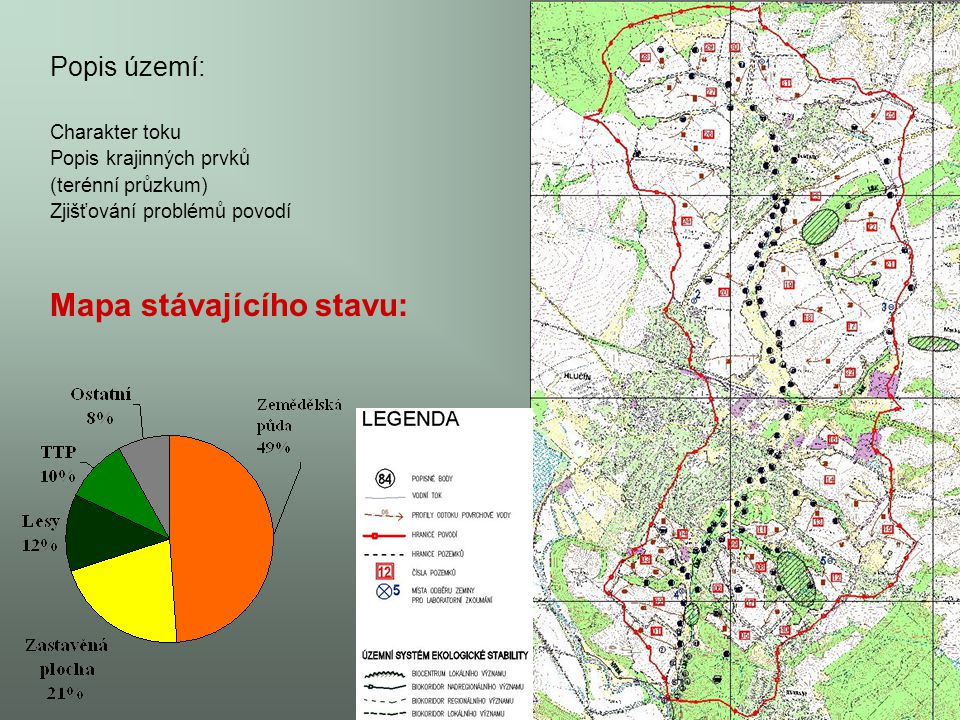 Mapa stávajícího stavu: