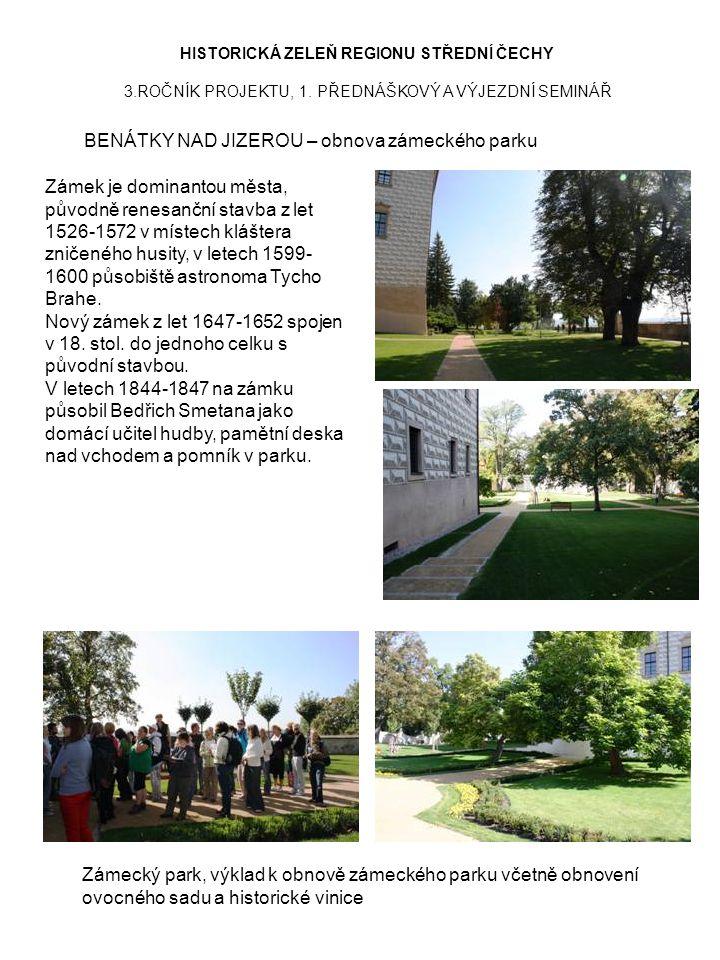 BENÁTKY NAD JIZEROU – obnova zámeckého parku