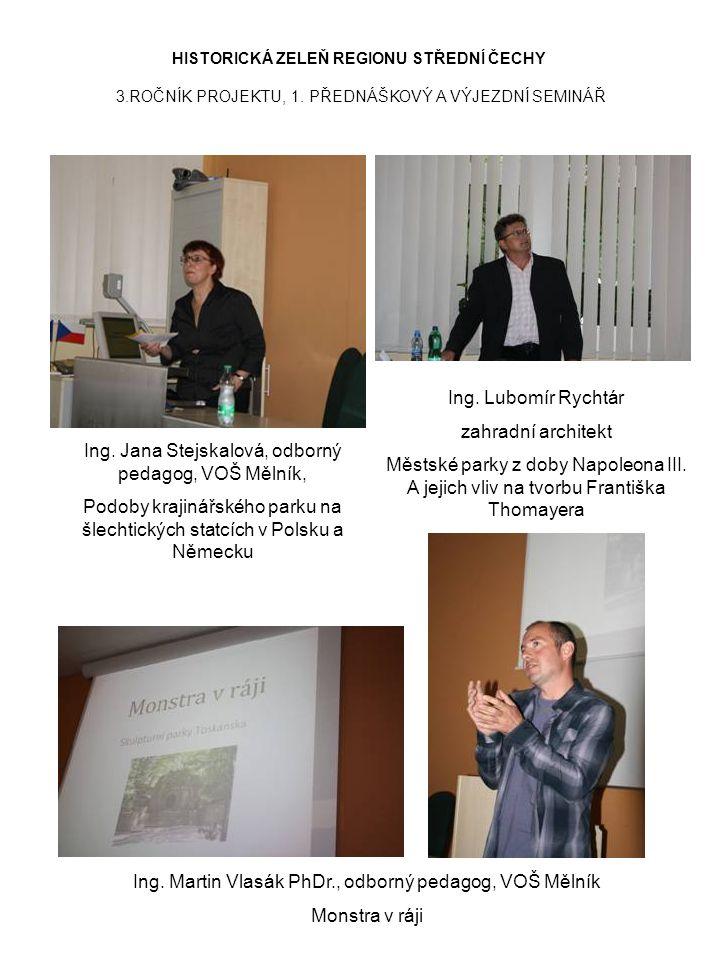 Ing. Jana Stejskalová, odborný pedagog, VOŠ Mělník,