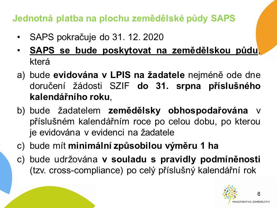 Jednotná platba na plochu zemědělské půdy SAPS