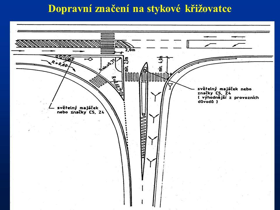 Dopravní značení na stykové křižovatce