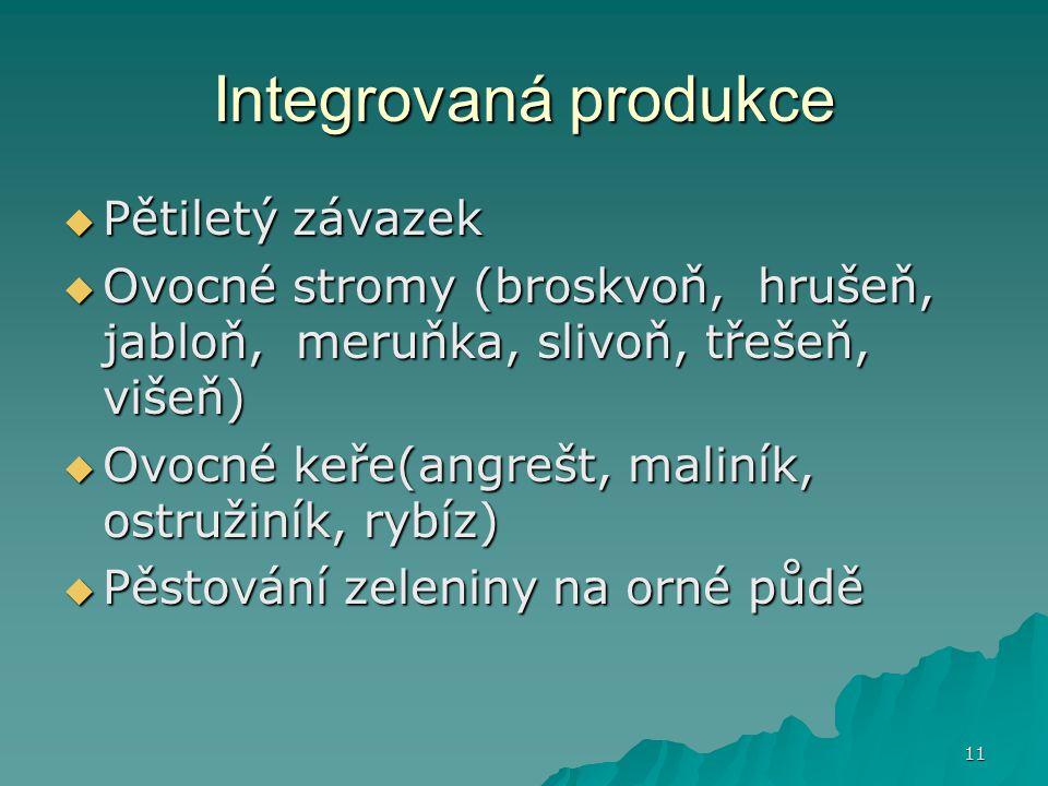 Integrovaná produkce Pětiletý závazek