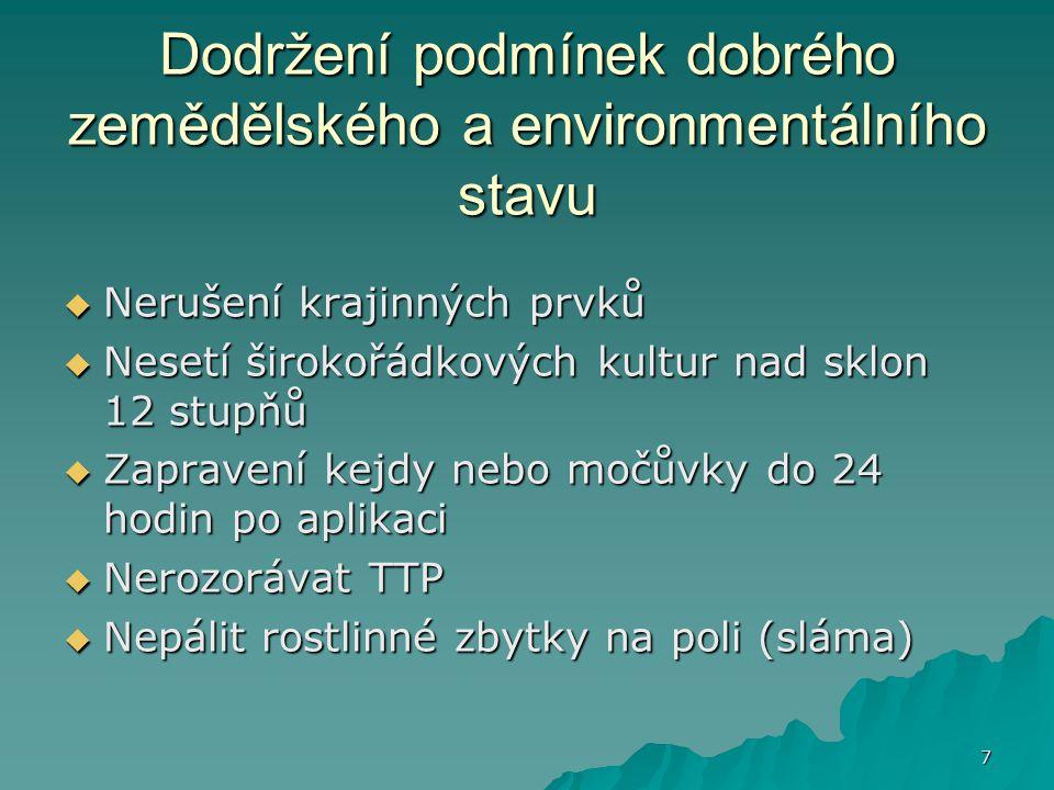 Dodržení podmínek dobrého zemědělského a environmentálního stavu