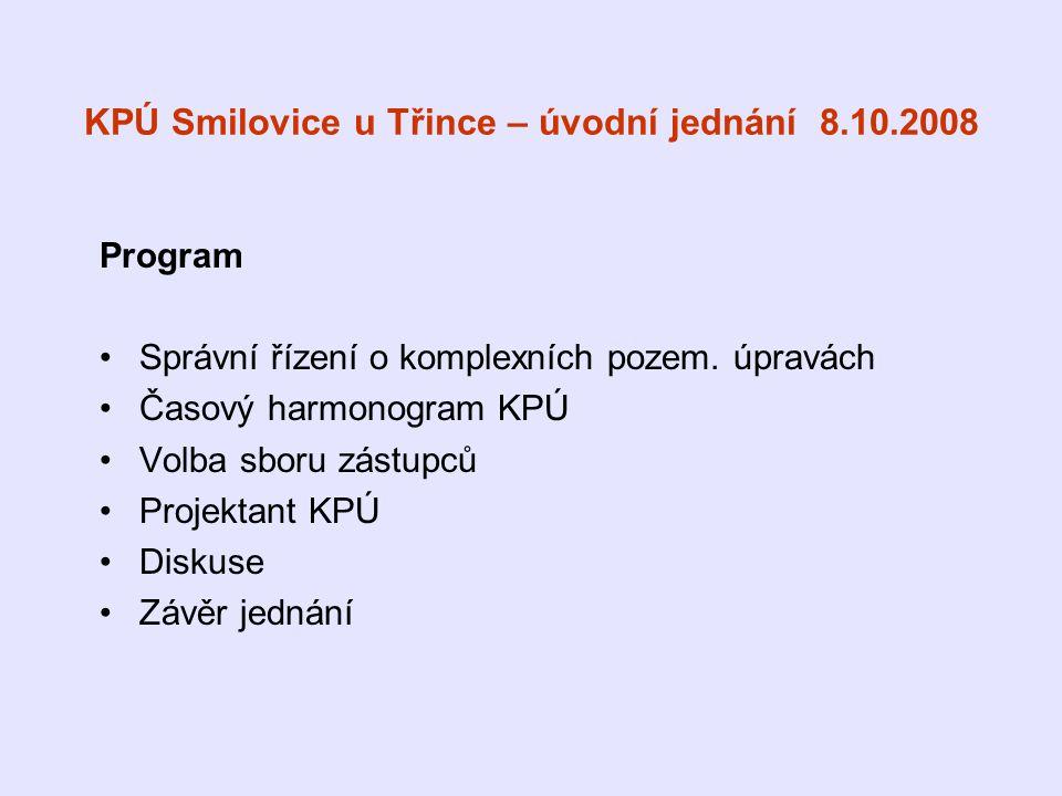 KPÚ Smilovice u Třince – úvodní jednání 8.10.2008