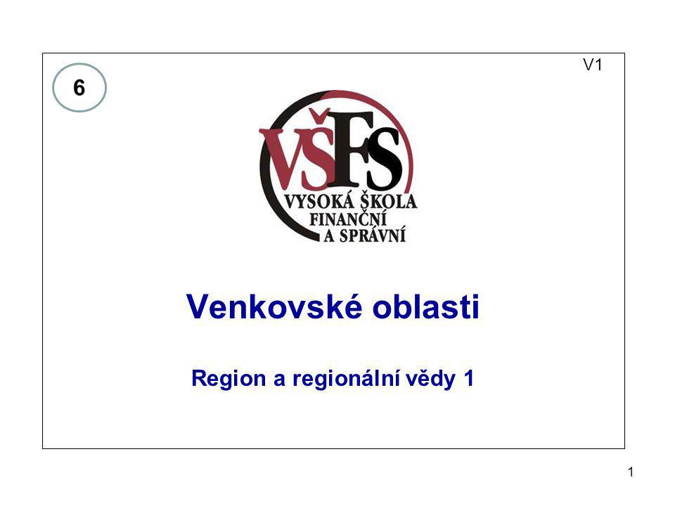 Region a regionální vědy 1