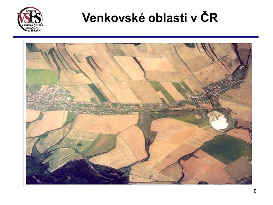 Venkovské oblasti v ČR