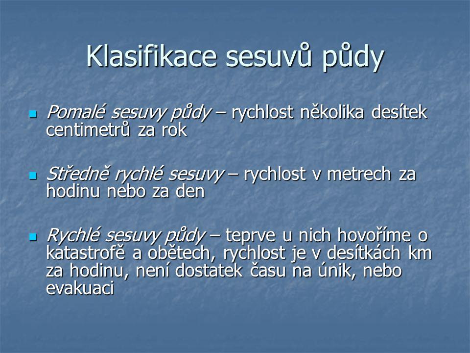 Klasifikace sesuvů půdy