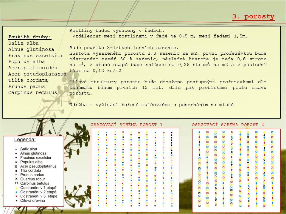 3. porosty Použité druhy: Salix alba Alnus glutinosa