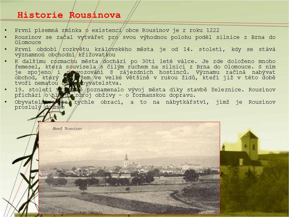 Historie Rousínova První písemná zmínka o existenci obce Rousínov je z roku 1222.