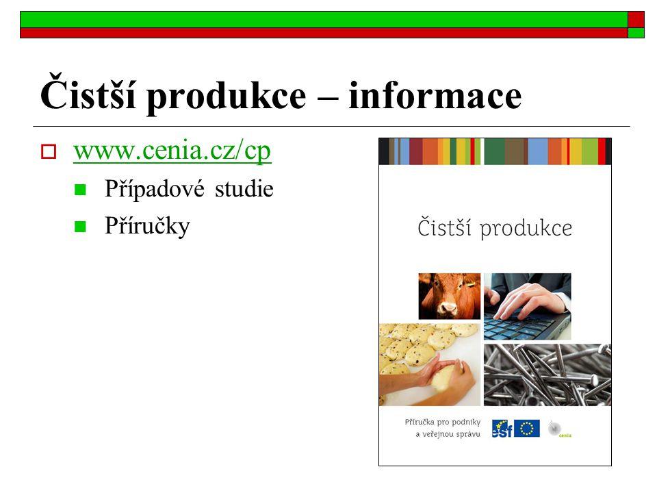Čistší produkce – informace