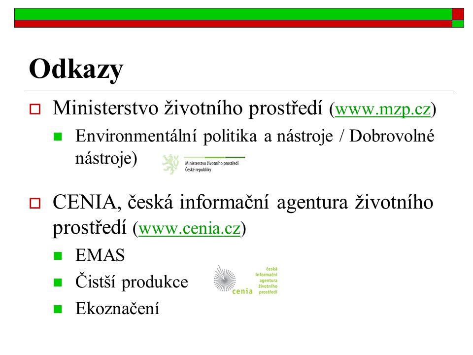 Odkazy Ministerstvo životního prostředí (www.mzp.cz)