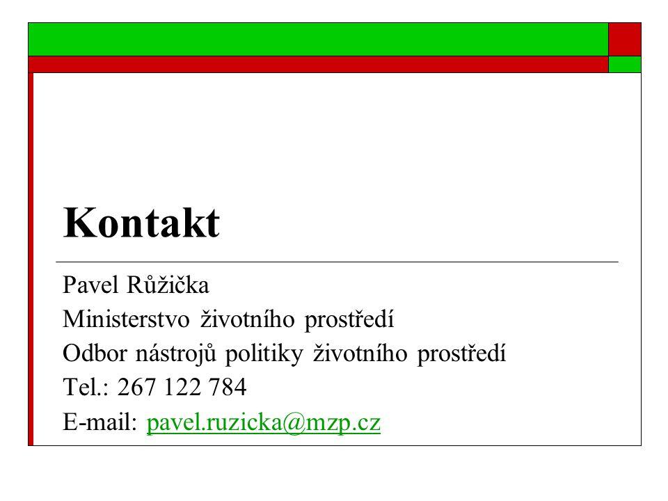 Kontakt Pavel Růžička Ministerstvo životního prostředí