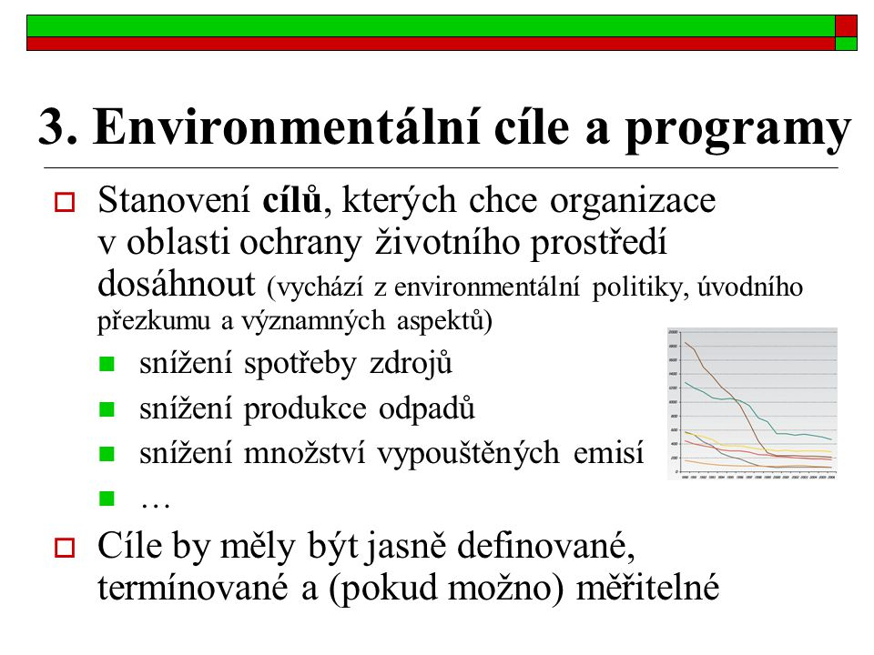 3. Environmentální cíle a programy