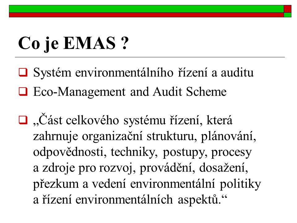 Co je EMAS Systém environmentálního řízení a auditu