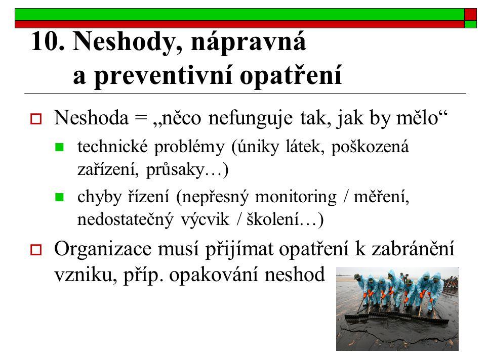 10. Neshody, nápravná a preventivní opatření