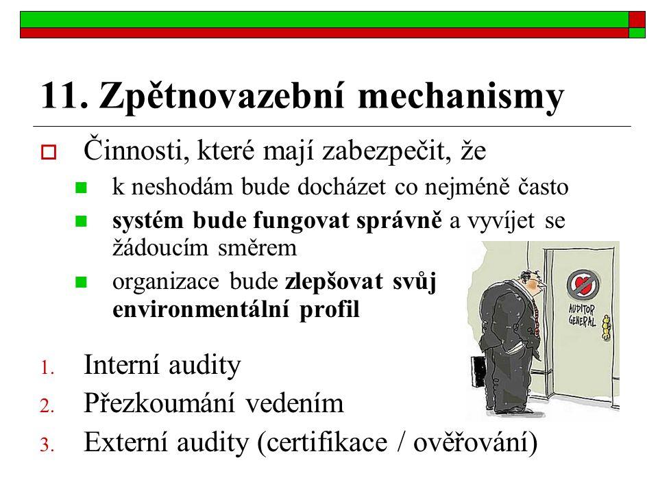 11. Zpětnovazební mechanismy