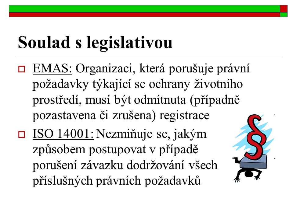 Soulad s legislativou
