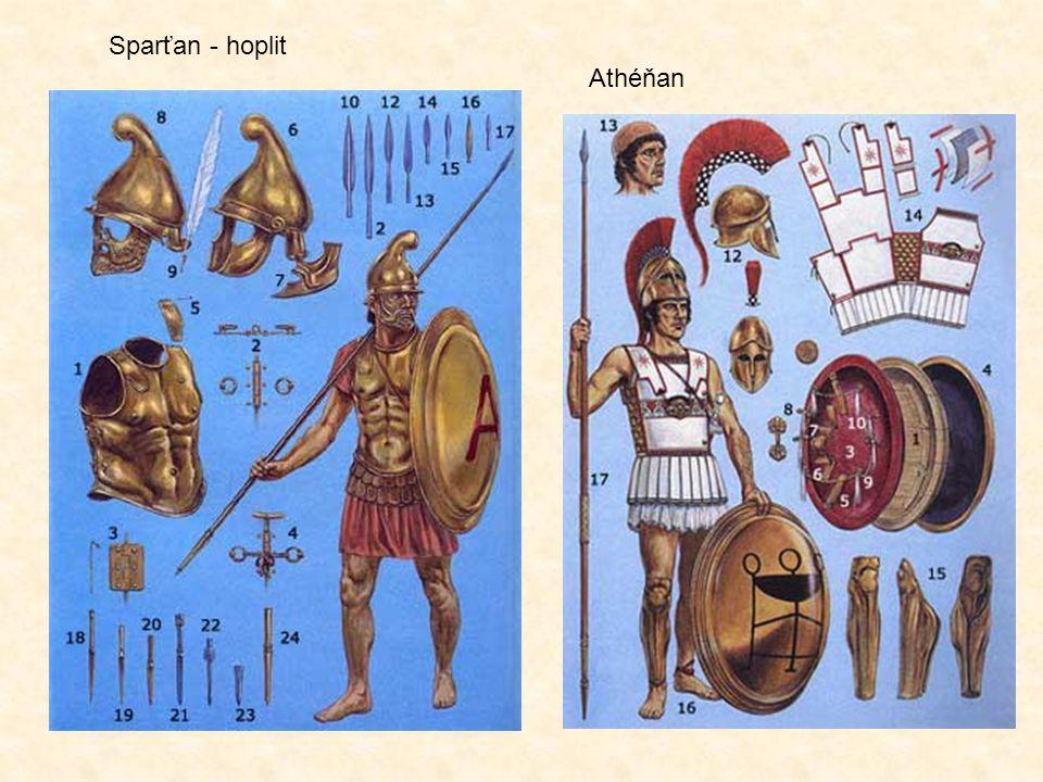 Sparťan - hoplit Athéňan