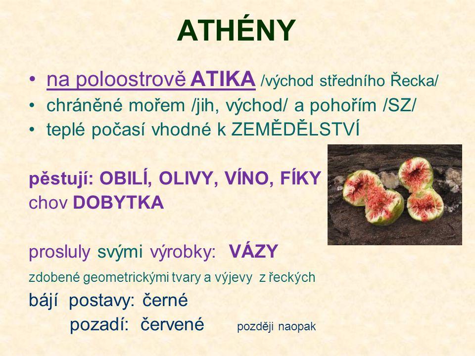 ATHÉNY na poloostrově ATIKA /východ středního Řecka/