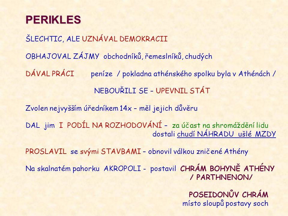 PERIKLES ŠLECHTIC, ALE UZNÁVAL DEMOKRACII