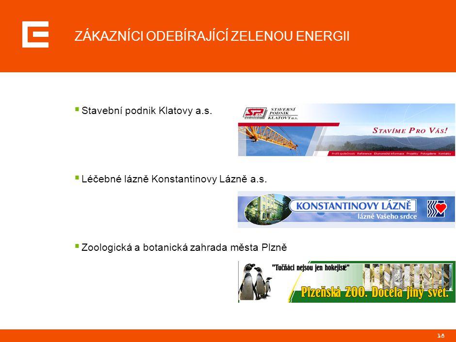 WWW.ZELENAENERGIE.CZ k odběru Zelené energie se můžete přihlásit na stránkách www.zelenaenergie.cz.