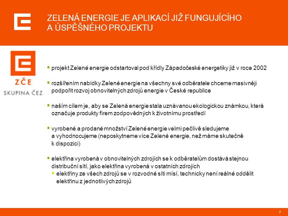 PRG-ZPD008-20041008-11373P1C ÚSPĚŠNÝ PILOTNÍ PROJEKT ZÁPADOČESKÉ ENERGETIKY UKÁZAL ROSTOUCÍ ZÁJEM ZÁKAZNÍKŮ O ZELENOU ENERGII.