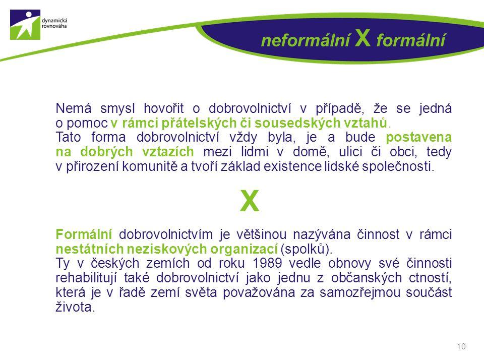 neformální X formální X