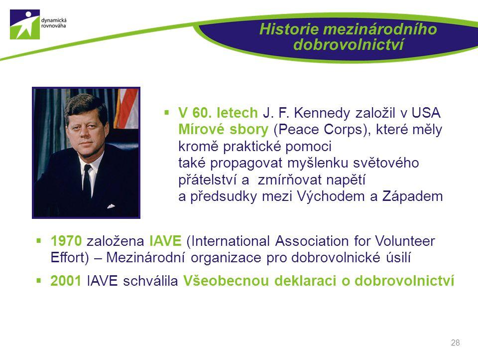Historie mezinárodního dobrovolnictví