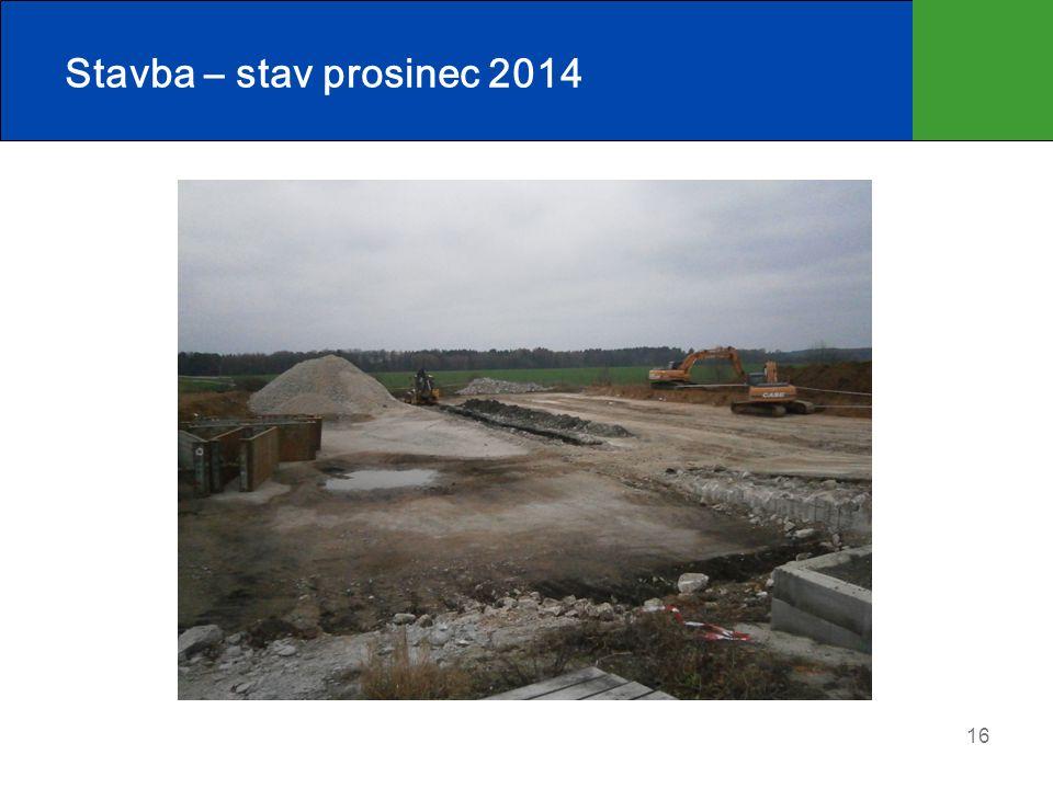 Stavba – stav prosinec 2014