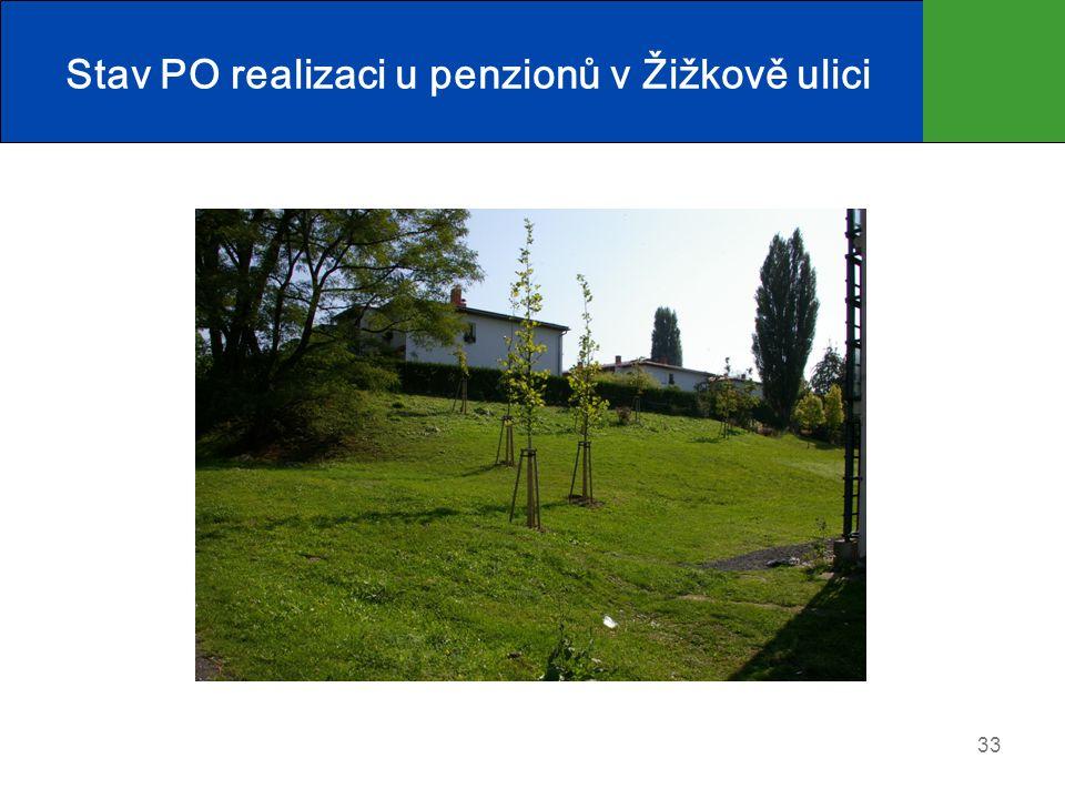 Stav PO realizaci u penzionů v Žižkově ulici
