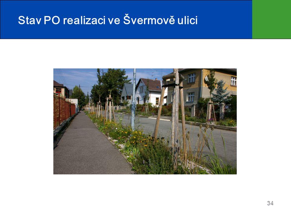 Stav PO realizaci ve Švermově ulici