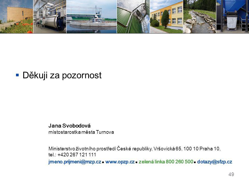 Děkuji za pozornost Jana Svobodová místostarostka města Turnova
