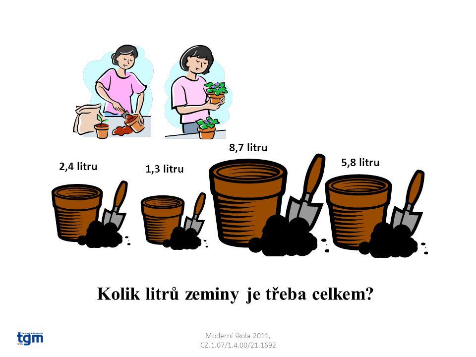 Kolik litrů zeminy je třeba celkem