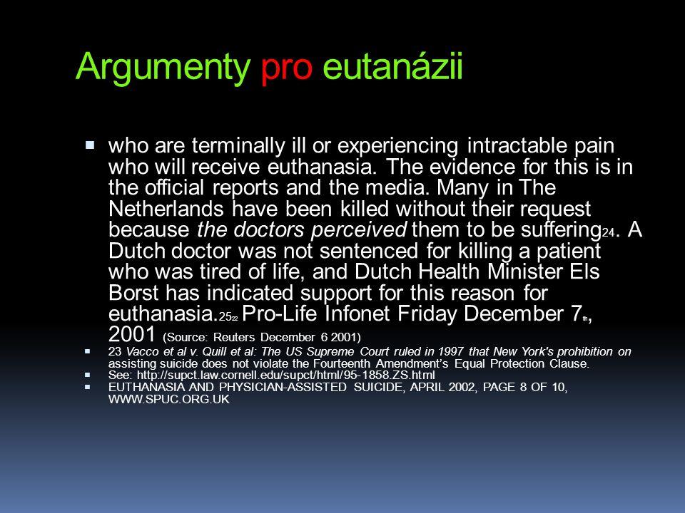 Argumenty pro eutanázii
