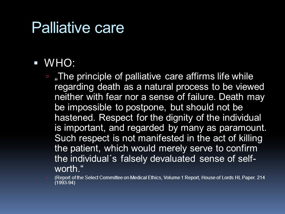 Palliative care WHO: