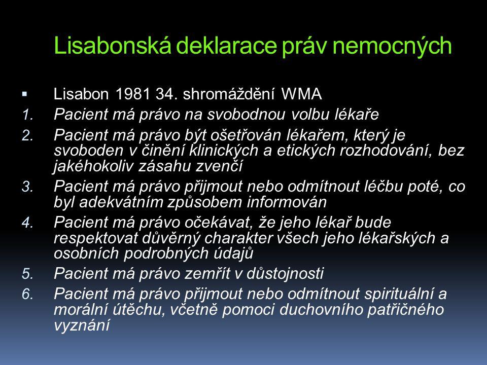 Lisabonská deklarace práv nemocných