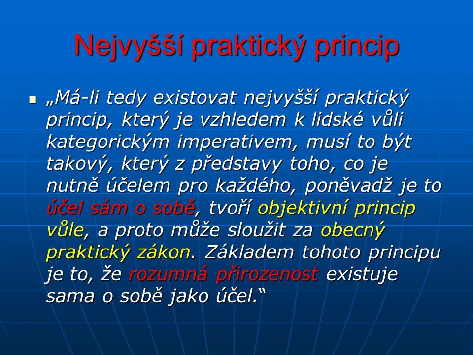 Nejvyšší praktický princip