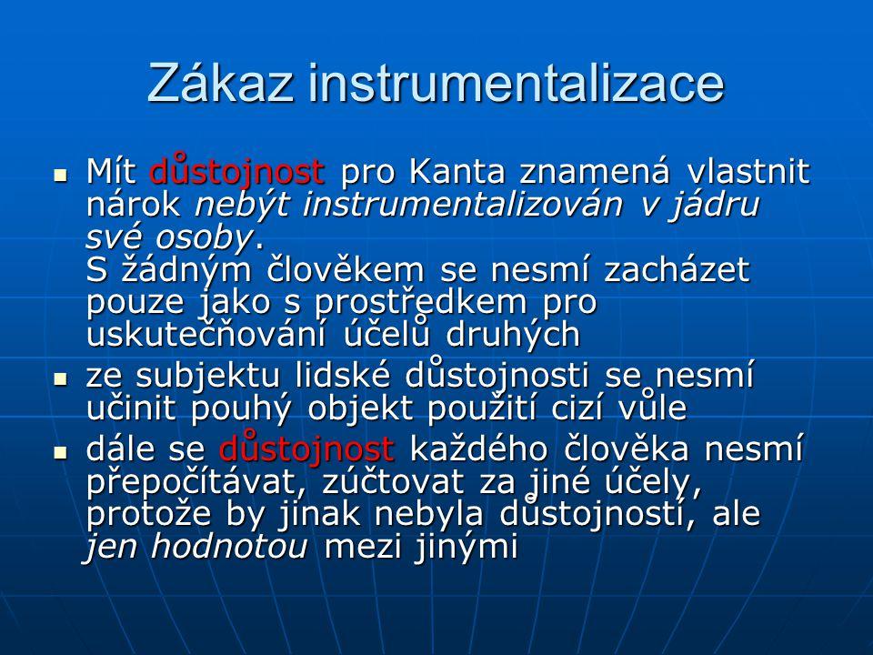Zákaz instrumentalizace
