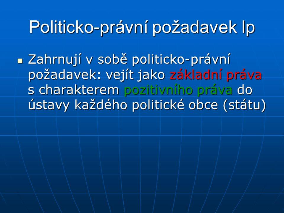 Politicko-právní požadavek lp