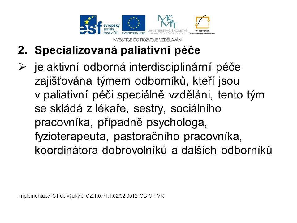 Specializovaná paliativní péče