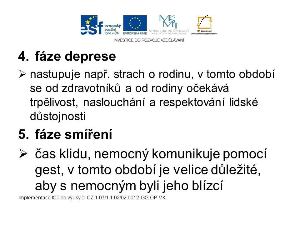 fáze deprese fáze smíření